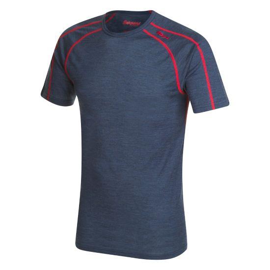 Soleie Ull T-skjorte Herre NAVY MEL/RED