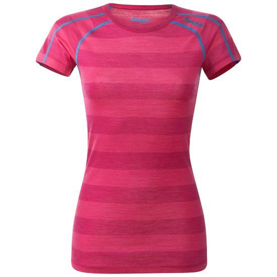 Soleie Ull T-skjorte Dame HOT PINK STRIPE