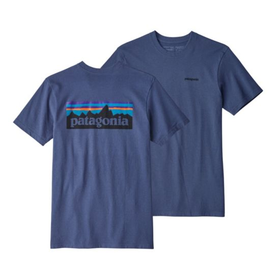 P-6 Logo Responsibility t-skjorte herre DOLOMITE BLUE