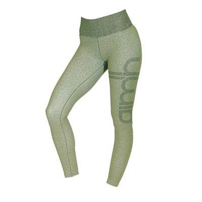 Green Melange Signature tights dame