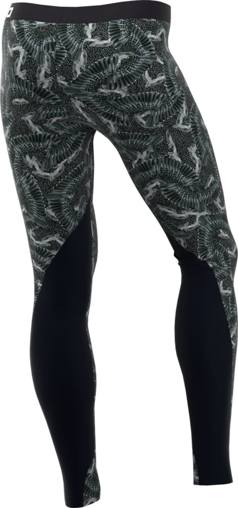 Pro Printed Chain Feather tights dame 012-WOLF GREY/B