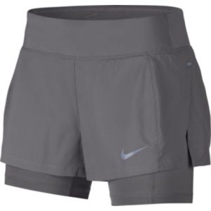 Eclipse 2-in-1 løpeshorts dame