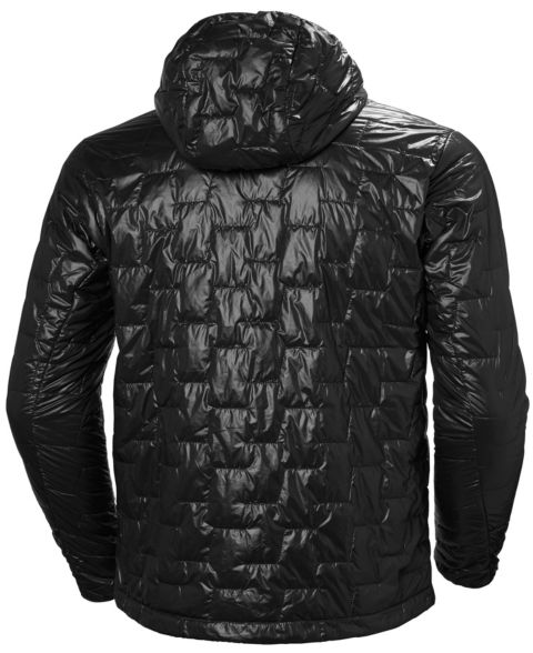 Lifaloft Hooded tynn vattert jakke herre 990 BLACK