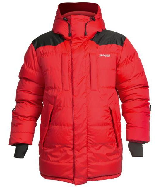 Expedition Down Parka Herre RED/BLACK