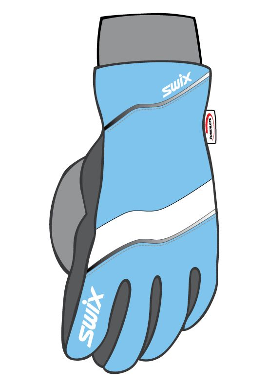Classic LL gloves  PACIFIC BLUE/WH