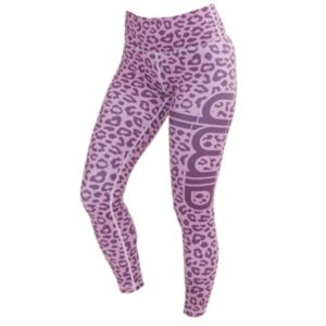 Pink Cheetah tights dame