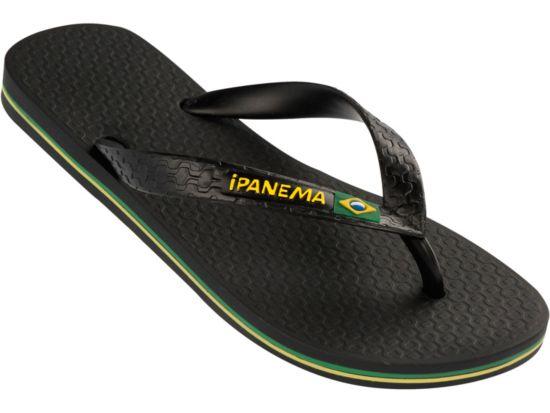 Classica Brasil Flip-Flops Dame BLACK