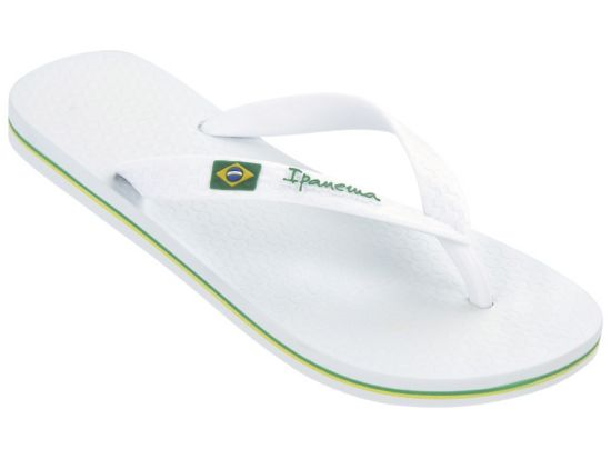Classica Brasil Flip-Flops Dame WHITE