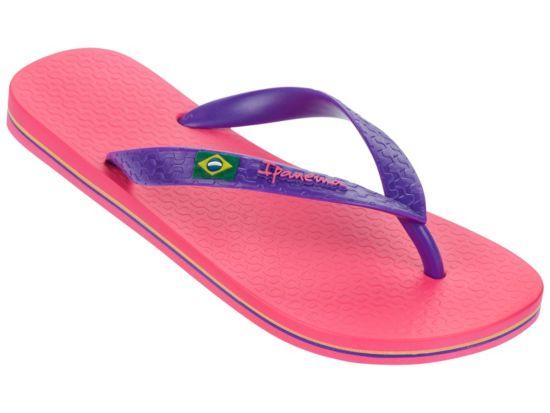 Classica Brasil Flip-Flops Dame PINK/PURPLE