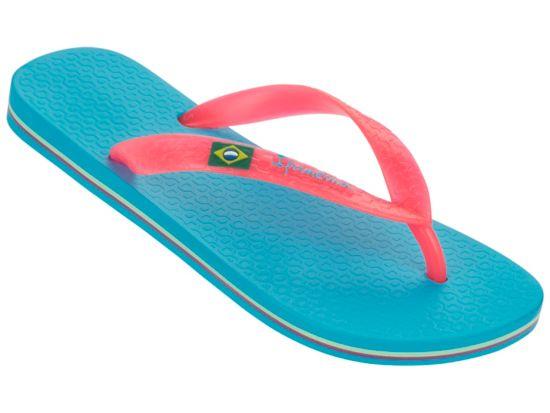Classica Brasil Flip-Flops Dame BLUE/PINK