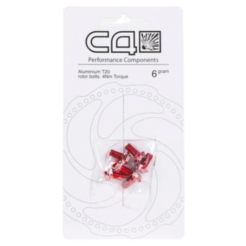 RE bremseskivebolter aluminium  RED 6 STK