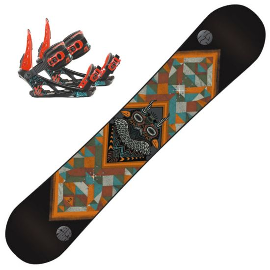 Snowboard Fastplant Grom m/Snowboard Vandal jr. Sn