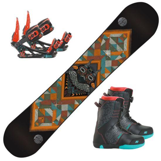 Snowboard Fastplant Grom m/Vandal jr Binding og Va