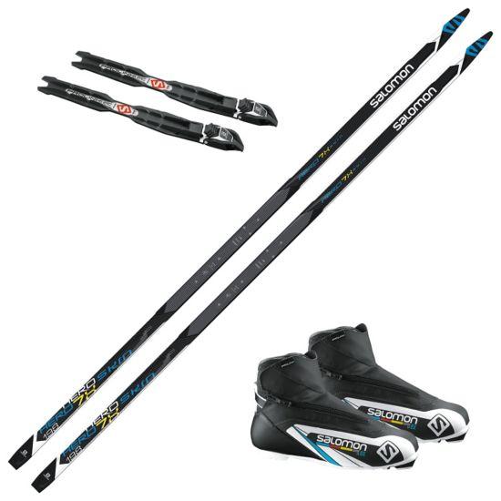 Aero 7 skipakke med skifeller og Salomon Equipe 8X skistøvel. Prolink binding