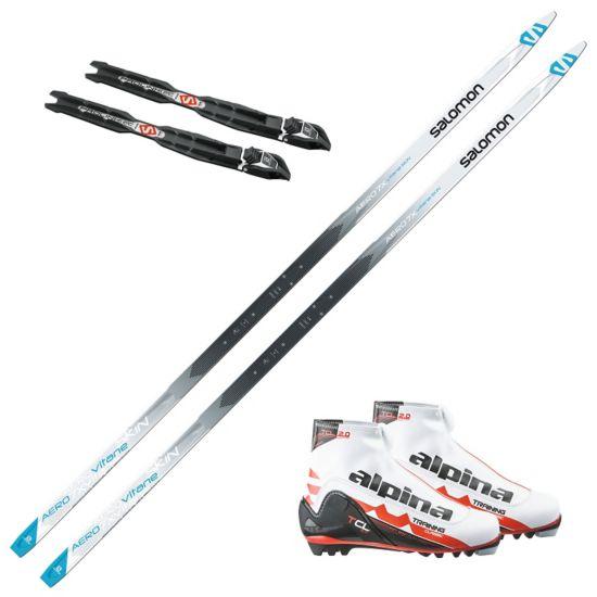 Aero 7X Vitane skipakke med skifeller og Alpin T10 skistøvel. Prolink binding