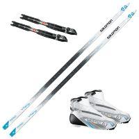 Aero 7X Vitane skipakke med skifeller og Salomon Vitane 8X skistøvel. Prolink binding