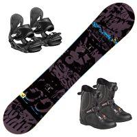 Evil Youth Snowboardpakke Med Jr Boa Støvel og P Jr Binding