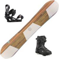 Shine Snowboardpakke Med Binding + Støvel