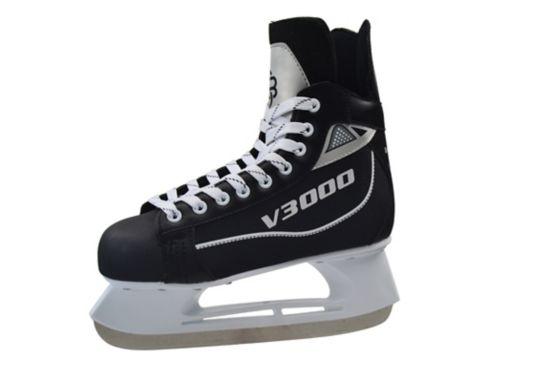 V3000 Hockeyskøyte Junior BLACK/WHITE