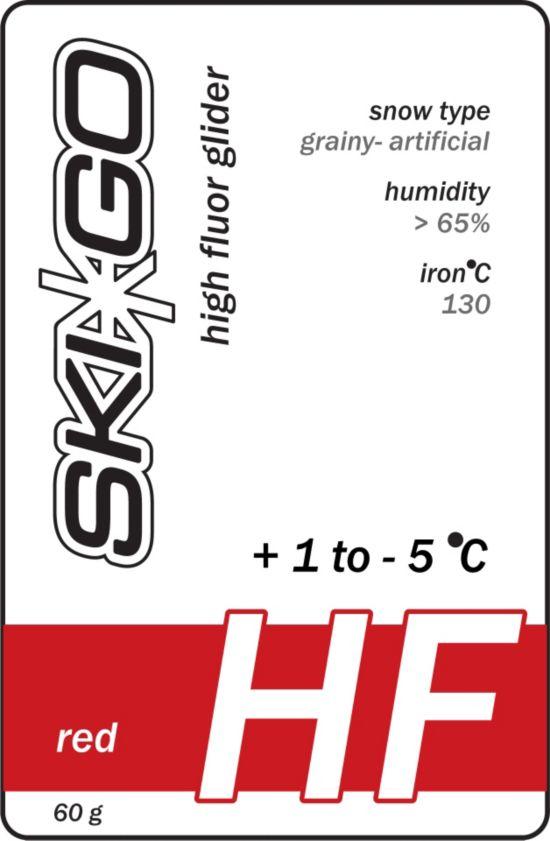 Skigo Hf Glider Rød +1/-5 Kornet Og