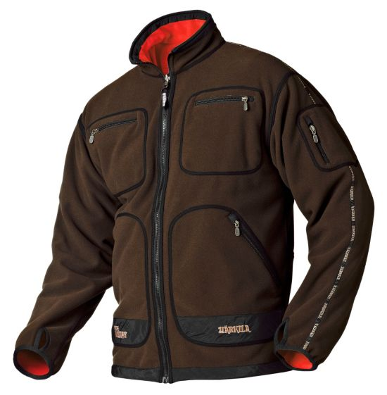 Kamko Fleece Jakke BROWN/RED
