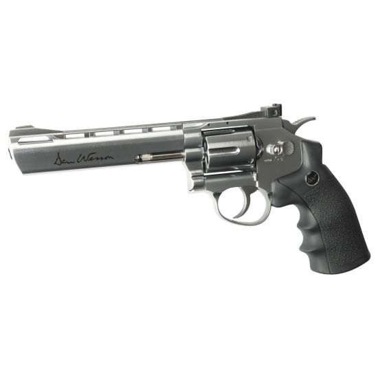 "Revolver Co2 6"" Sølv"