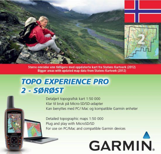 Topo Experience Pro 2 Elektronisk Kart - Sørøst